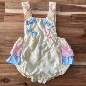 Vintage 12m Ruffled Overalls